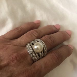 Avon pearl cocktail ring